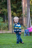 Cute baby in park — Stock Photo