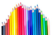 Multicolored pencils laid out in waves — Stock Photo