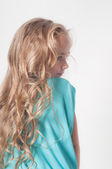 Photo from the back of little girl — Stock Photo