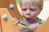 Young boy on playground — Stock Photo