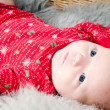 Little cute baby in red — Stock Photo #6938748