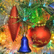 Christmas decorations on the Christmas tree - Lizenzfreies Foto