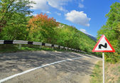 Old Winding Road in mountains — Stockfoto