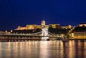 Danube river, Chain Bridge and Royal Palace — Stock Photo