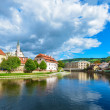 Cesky Krumlov on the Vltava River — Stock Photo