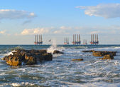 Sea station of gas production — Stockfoto