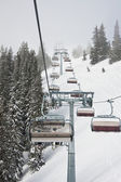 Chair ski lift. Ski resort Zell am See. Austria — Stock Photo