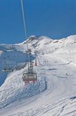 Ośrodka narciarskiego kaprun, lodowiec kitzsteinhorn. austria — Zdjęcie stockowe