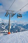 Ski resort zell am voir, autriche — Photo