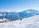 Ski resort Zell am See, Austria — ストック写真