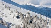 Ośrodek narciarski zell am zobacz, austria — Zdjęcie stockowe