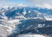 Ośrodek narciarski zell am zobacz. austria — Zdjęcie stockowe