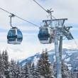 The gondola ski lift — Stock Photo