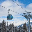 The gondola ski lift - Stock Photo
