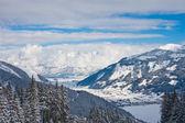 Ski resort zell am vidět. rakousko — Stock fotografie