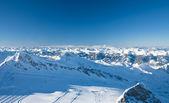 Kitzsteinhorn yakınındaki kaprun, avusturya alpleri kayak merkezi bölgede yamaçlarında — Stok fotoğraf