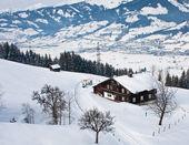 Zimní krajina. ski resort kaprun - maiskogel. rakousko — Stock fotografie