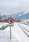 Railroad sign. Austria — Stock Photo