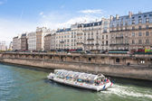 Paris. Embankment of the river Seine — Stock Photo