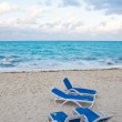 Loungers on the beach — Stock Photo #14130773