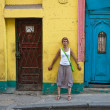 A tourist on the streets of Havana. Cuba — Stock Photo #14345237