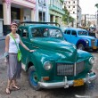 Stock Photo: A tourist on the streets of Havana. Cuba