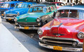 Old Havana vintage cars — Stock Photo
