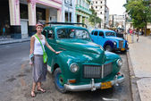 A tourist on the streets of Havana. Cuba — Stock Photo