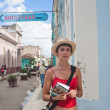 A tourist in the city of Santa Clara. Cuba� — Stock Photo
