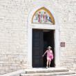 Royalty-Free Stock Photo: Entrance to the church of Cosmas and Damian. City Fazana. Croati