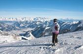 Ski resort of Kaprun, Kitzsteinhorn glacier. Austria — Stock Photo