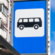 Stock Photo: Bus stop sign