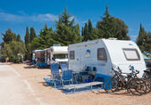 Camping on the Adriatic Sea. Croatia — Stock Photo