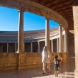 Nside the palace of Charles V at the Alhambra. Granada, Spain — Stock Photo