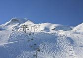 Skigebied van kaprun, kitzsteinhorn gletsjer. oostenrijk — Stockfoto