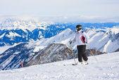 Estância de esqui de kaprun, glaciar kitzsteinhorn. Áustria — Fotografia Stock
