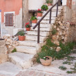 Old house. Fazana town. Croatia — Stock Photo