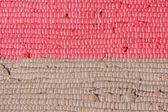 Homespun striped carpet. Background — Stock Photo