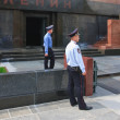 Guard at the Lenin Mausoleum. Moscow. Russia — Stock Photo