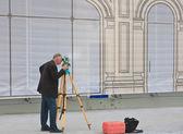Surveyor in the work — Stock Photo