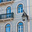 Front of the house, decorated tiles, Lisbon, Portugal — Stock Photo