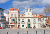 The main square in the town of Cascais. Portugal — Stock Photo