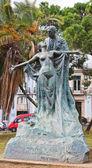 Statue Ese Maria de Eca de Queiroz in Lisbon, Portugal — Foto Stock