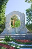 Strauss monument in Vienna. Austria — Stock Photo