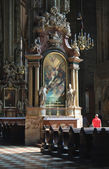 The interior of St. Stephen's Cathedral in Vienna, Austria — Stock Photo