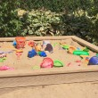 Sandbox with toys for children — Stock Photo #41221473