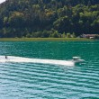 Water skiing on Lake Worth (Worthersee). Austria — Stock Photo #43103653