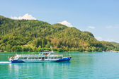 Passenger ship on Lake Worth (Worthersee). Austria — Stockfoto