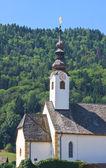 Курорт Мария стоит. Зимняя церковь. Австрия — Стоковое фото