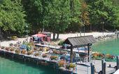 Berth resort Krumpendorf am Worthersee. Austria — Stock Photo